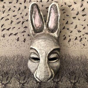 Handmade & Handpainted Rabbit Mask